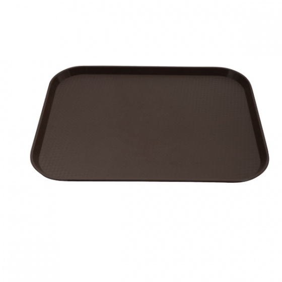 Brown Fast Food Tray