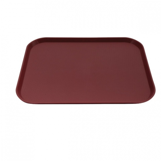 Burgundy Fast Food Tray Large