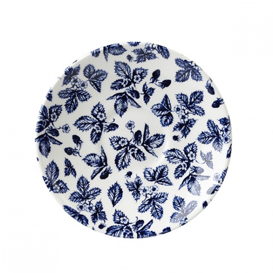 Churchill Vintage Blue Bramble Print Saucer