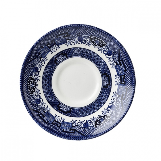 Churchill Vintage Blue Willow Print Saucer