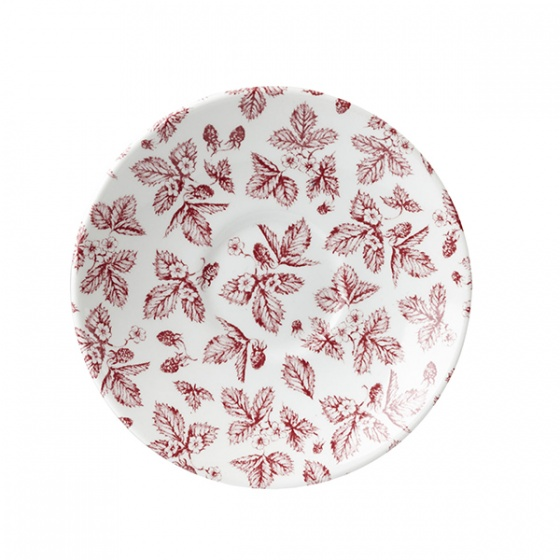 Churchill Vintage Cranberry Bramble Print Saucer