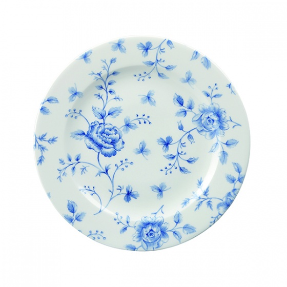 Churchill Vintage Prague Rose Chintz Print Round Plate