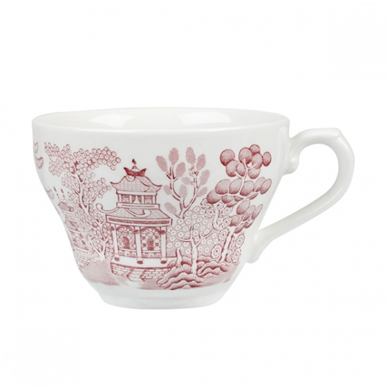 Churchill Vintage Cranberry Willow Print Coffee or Tea Cup