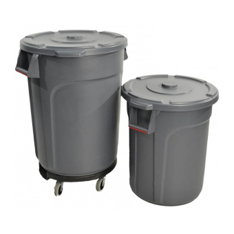 Trust Commercial® Thor Round Bins 75lt Grey