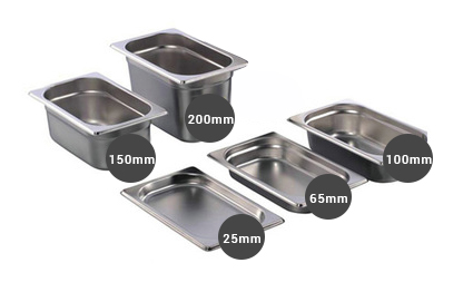 Food pans Depth variation
