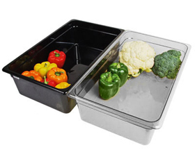 Clear and Black Polycarbonate Food Pans