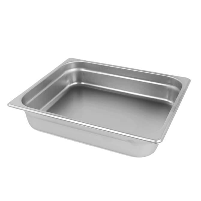 Anti-Jam Stainless Steel Steam Pan 1/2 Size