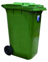 Heavy Duty Bin with Wheels Square 240 Litre