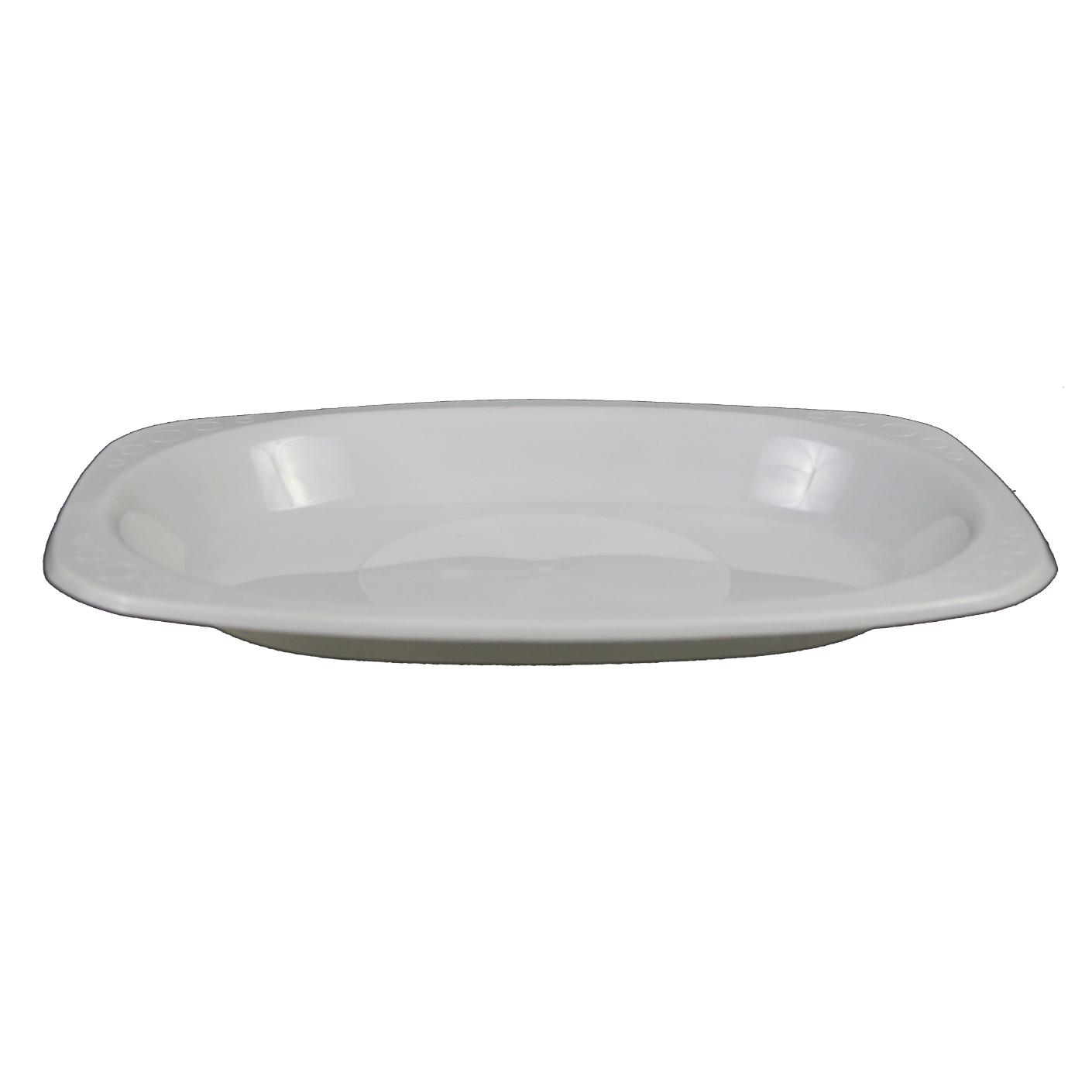 Genfac Oval White Disposable Plate Small 160X230mm
