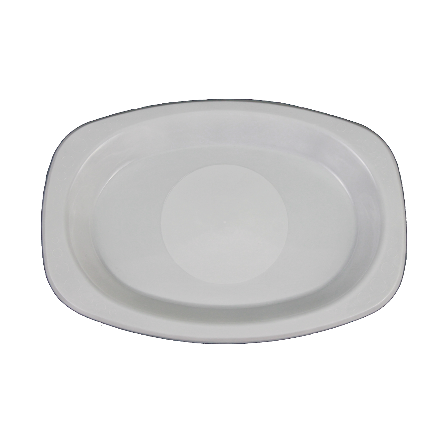 Genfac Oval Plate Large White 210X300mm
