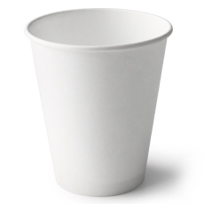 4Oz White Unwrapped Hot Cup