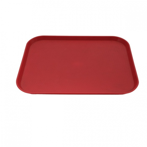 Red Fast Food Tray