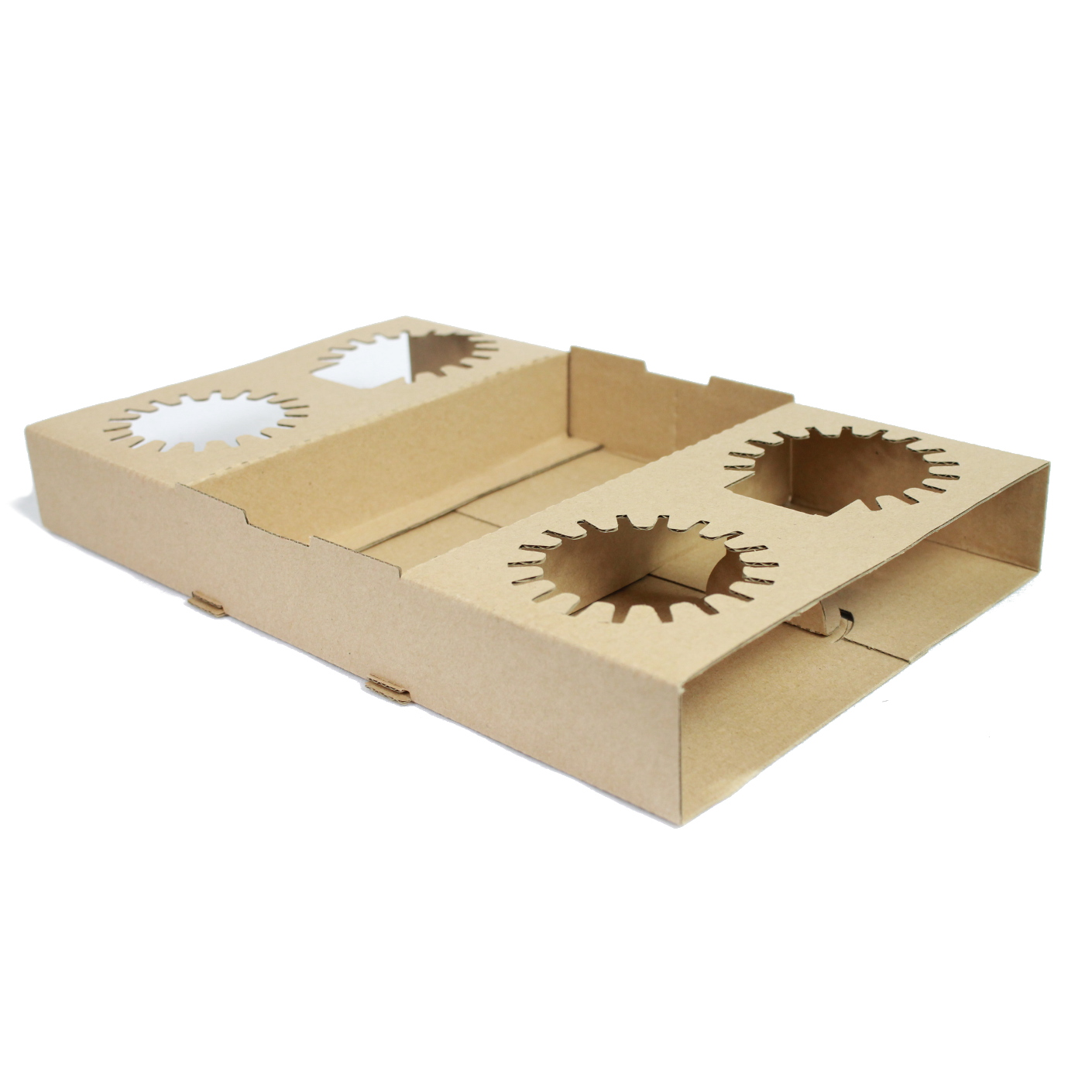 4 Cup Carry Tray Cardboard