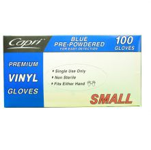 Food Service Vinyl Gloves Clear Small