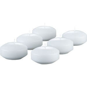 Floating White Two Inch Candle