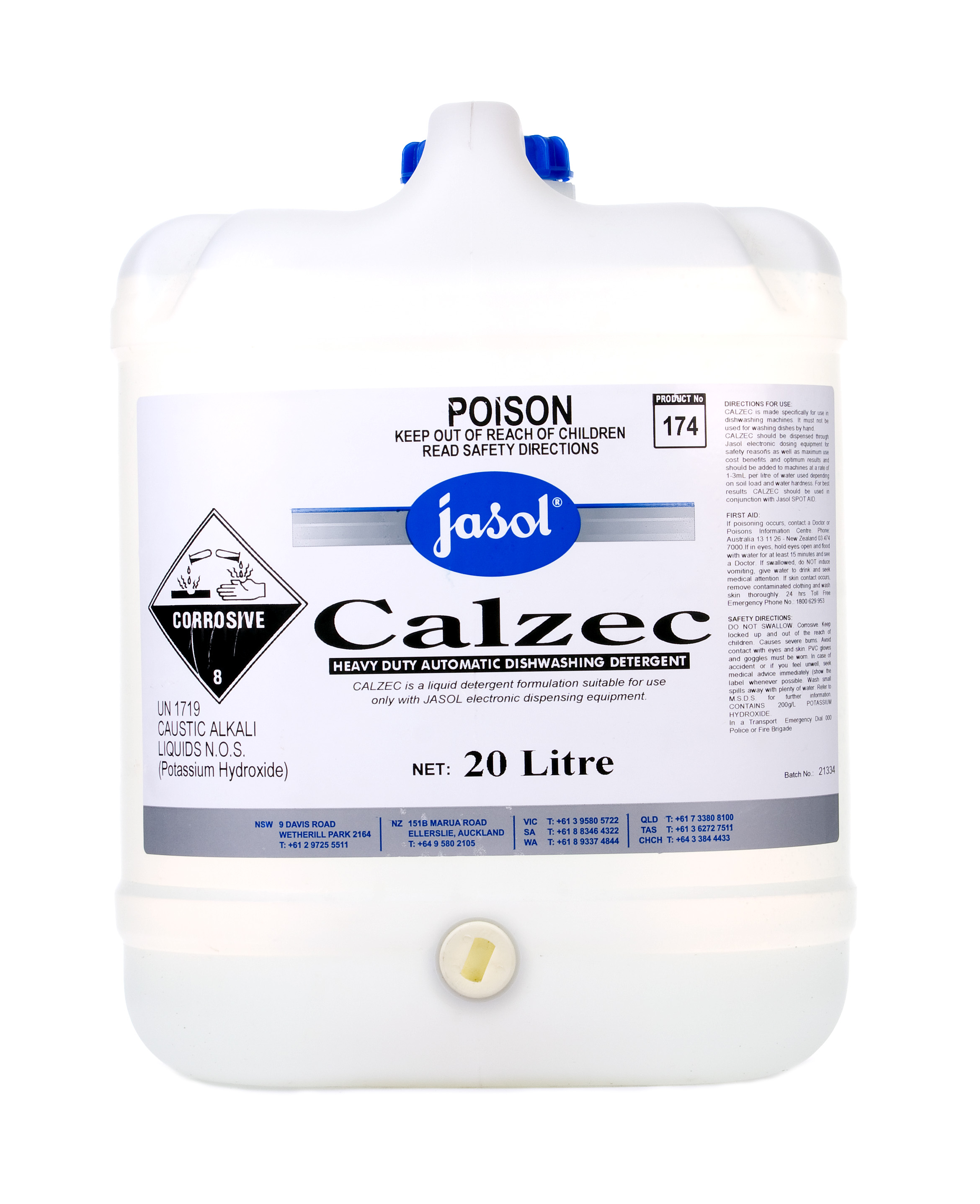 Calzec Plus Machine Detergent