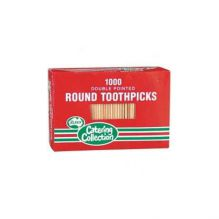 Round Toothpicks Double Pointed 1000