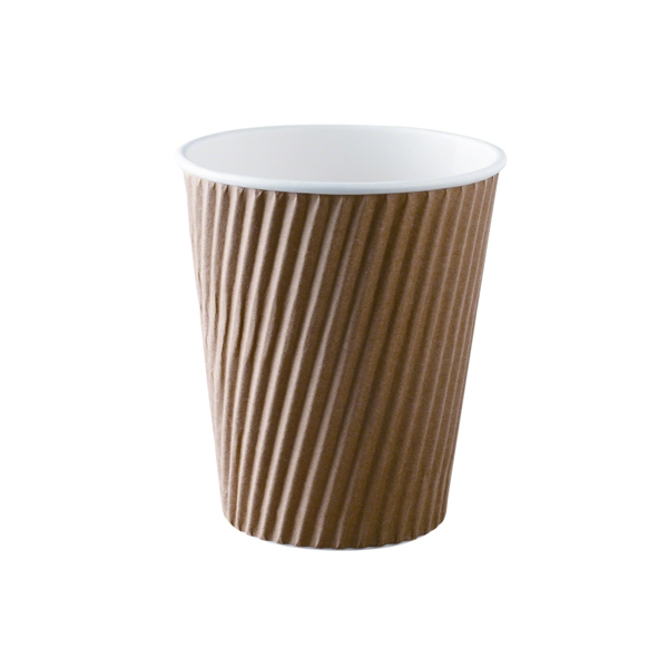 Brown Ripple Cup 12  Oz