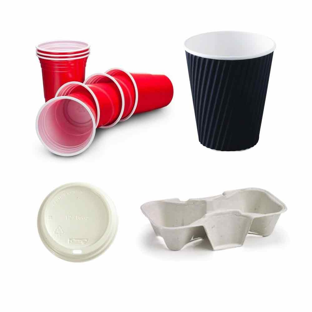 Disposable Cups, Lids & Cup Trays
