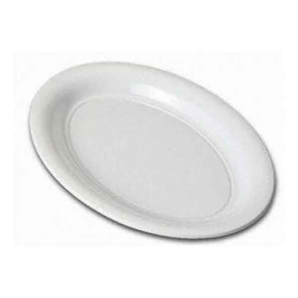 Plastic Oval Platter Large 530mm White