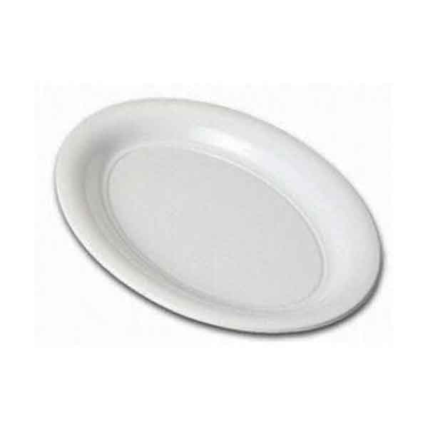Plastic Oval Platter Medium 460mm White