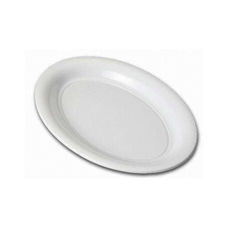 Plastic Oval Platter Small 395mm White