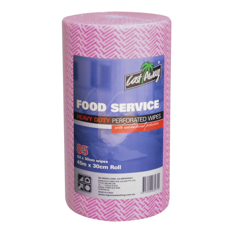 Castaway Food Service Heavy Duty Wipe Red Roll